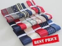 New 24 Yards Navy Style DIY hair bow material accessory grosgrain/satin ribbon printed rib knitting belt ribbon set