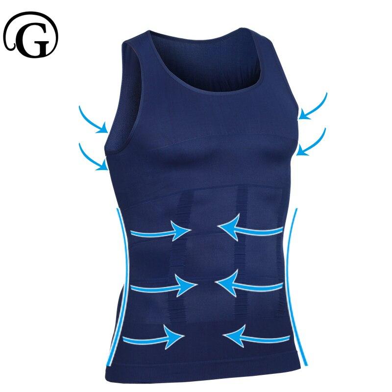 формирователь Posture Correct Tops Slimming Undershirt PRAYGER Corset Men Waist Trainer T Shirts Sleevless Compression Humpback