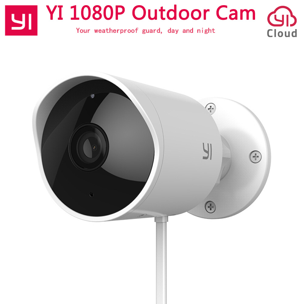 Xiaomi YI Outdoor Security Camera Cloud Camera Wireless IP 1080P Resolution Waterproof Night Vision Security Surveillance Cam