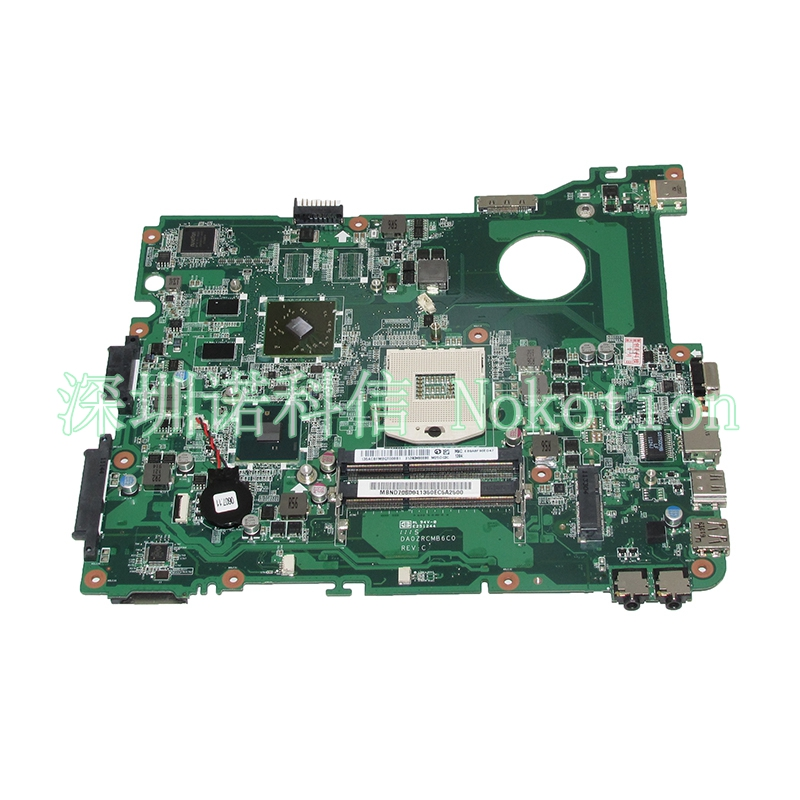 NOKOTION DA0ZRCMB6C0 MBND706001 MB.ND706.001 Laptop Motherboard For Acer eMachines E732 E732Z HD6370M HM55 DDR3 Main board nokotion mb nc806 001 da0zrcmb6c0 rev c mbnc806001 for acer aspire e732 e732z motherboard hm55 ddr3 ati hd 5470