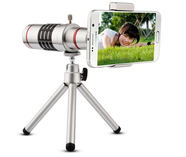 Teléfono móvil 18x Cámara Del Telescopio Del Zumbido óptico teleobjetivo Lente Para Samsung nota 3 s5 s6 iphone 4 5 6 s 6 más htc huawei
