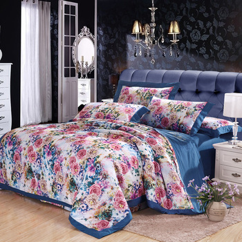 High Grade Jacquard Embroidery Series New Design Bedding Cover Set pure Cotton King Queen Size 4 piece/set For 5/6/6.6Feet Bed