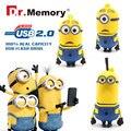 2016 Classic Carton Minions Pen Drive Pendrives 4gb 8gb 16gb 32gb 64gb U Disk Flash Card hot sale Memory stick Usb Flash Drive