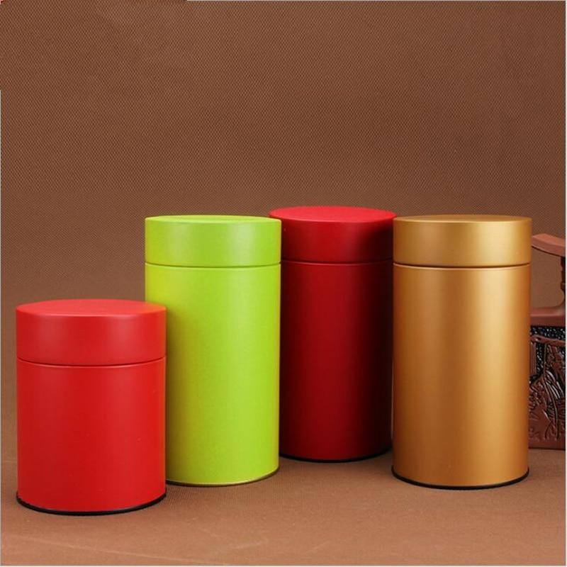 6pcs set metal container tea storage box jar round for Kitchen tool set of 6pcs sj