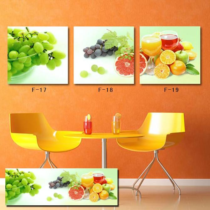 paneles enmarcados pinturas de la fruta de la cocina decoracin de la pared moderna de