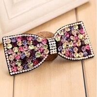 Nuevo checa piedras horquilla de la mariposa llena de diamantes arco grande headwear accesorios para el cabello
