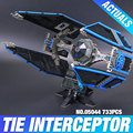 New 703pcs Lepin 05044 Star War Series Limited Edition The TIE Interceptor Building Blocks Bricks Model Toys