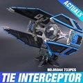 Nuevo 703 unids Lepin 05044 Star Wars Serie de Edición Limitada de La TIE Interceptor Building Blocks Ladrillos Modelo Juguetes