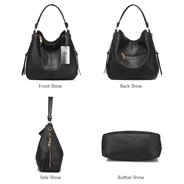 REALER handbags women shoulder crossbody bag female casual large totes high quality artificial leather ladies hobo messenger bag 3
