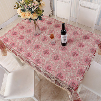 2018 new lace table cloth pastoral offee dining decor cover home textile flower embroidered table runners almofadas covers decor image