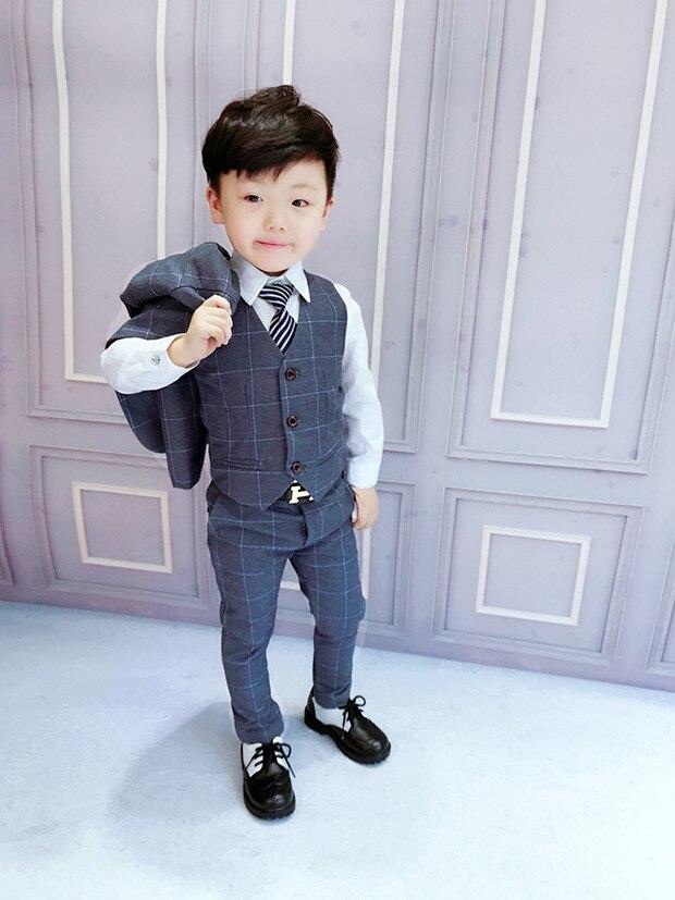 2018 formal blue Boys suits for weddings Kids Prom Suits Black Wedding Suits Kids Big Children