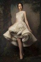 Dlass-Vestidos de Cóctel Krikor Jabotian para mujer, Alto y Bajo traje de noche, con cuello de Joya, encaje y lentejuelas, Sexy, de soirée de mariage, 2020