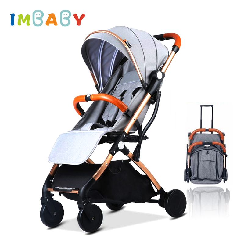 IMBABY Folding Lightweight Baby Stroller For Plane Travel Ultra-light Baby Carriage Baby Prams For Kids Newborns Baby Pushchair