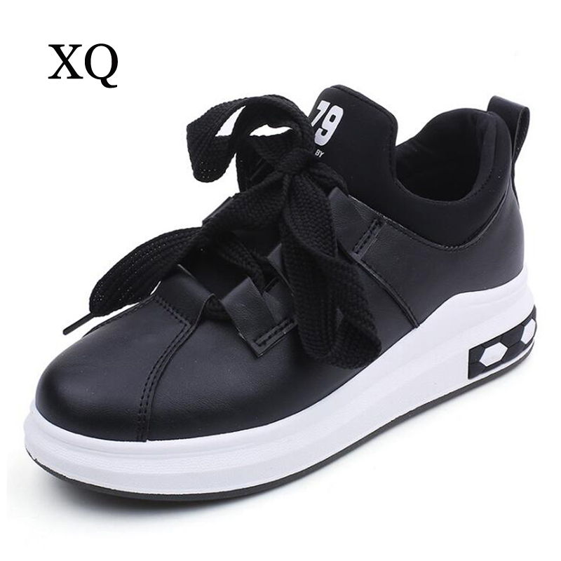 Women flats shoes high quality lace-up women increased height shoes breathable women casual shose black ssapatos femininos