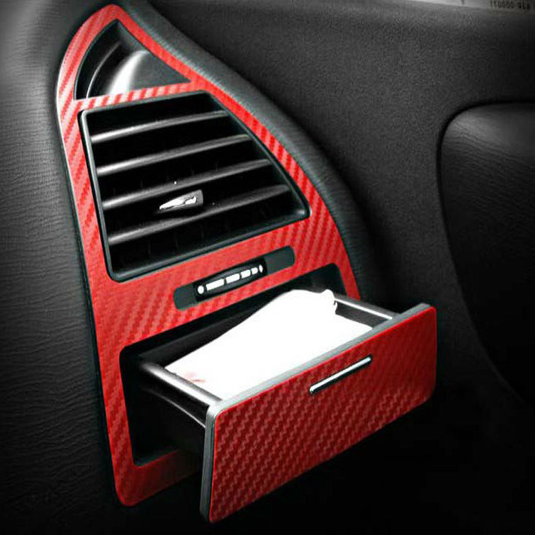 Free Shipping The Carbon Fiber Car Stickers Of Air-conditioning Outlet Decoration For Citroen C-QUATRE Sedan
