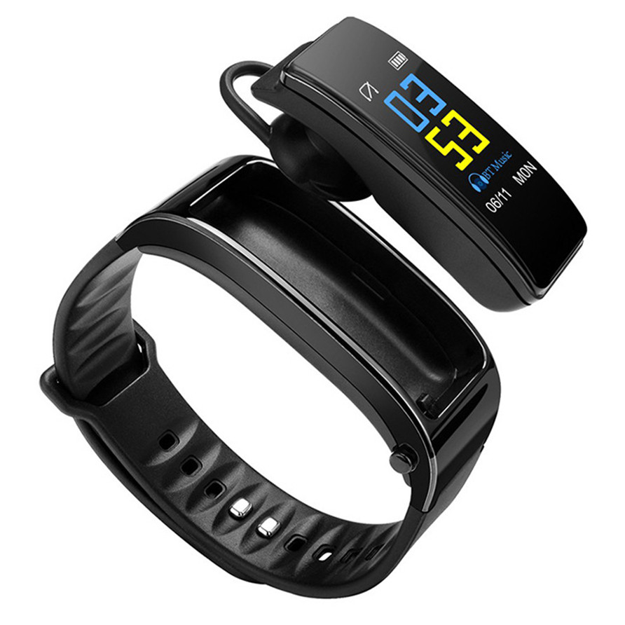 Bracelet Fitness Earphone Tracker Wristband Talk Y3S Bluetooth Android Heart-Rate-Monitor