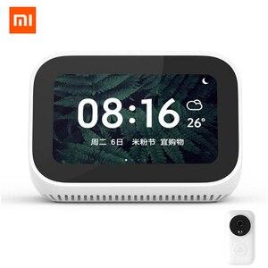 Оригинальный Xiaomi AI сенсорный экран Bluetooth 5,0 динамик цифровой дисплей Будильник WiFi умное соединение с видео дверной звонок