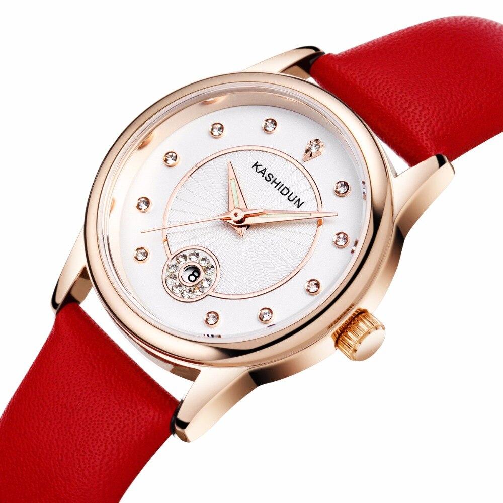 KASHIDUN Women s Watches Top Brand Fashion Dress Wrist Watch Luxury Diamonds Crystal Stainless Steel Case
