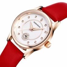 KASHIDUN. Relojes de Primeras Marcas de Moda de las mujeres Viste el Reloj de pulsera de Diamantes de Lujo Cristal Caja de Acero Inoxidable Relogio Feminino