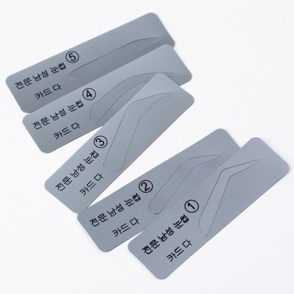 5PCS/Set Eyebrow Stencil Eyebrow Shapeing Kits Templates Shaper Silicone Eyebrows Stencils Can Be Used Repeatedly 4