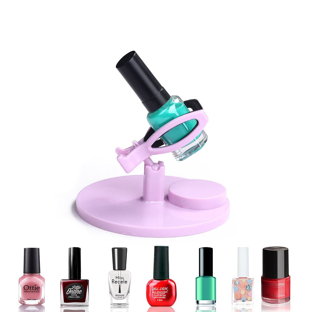 Hand Free Nail Polish Gel Bottle Holder Easy Manicure Nail Art Display Nail Varnish Stand Tilt Clip Grip Nail Polish Holder Tool
