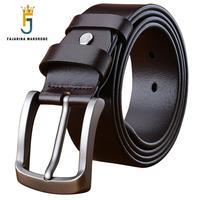 FAJARINA New Designer Men Genuine Leather Belt Men's Luxury Man Casual Styles Waistband Belt for Men Mens Belts Jeans N17FJ607