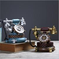 Phone culptures /Vintage Retro Telephone Camera Photography Props Resin Gifts Craft Ornaments Bar Coffee Home Decoration
