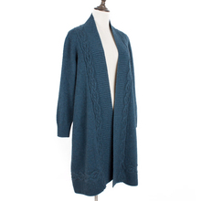 100% goat cashmere thick knit cardigan sweater