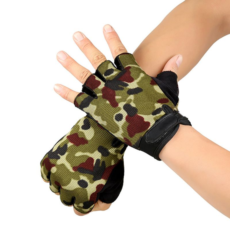 High Quality Half-Finger Wrap Wrist Cycling Sports Gloves Palm Brace Supports Racing Gloves