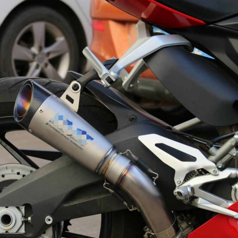 MOKALI titanium alloy leaks carbon exhaust motorcycle for Ducati 959  escapes for Ducati echappement moto muffler with mid pipe