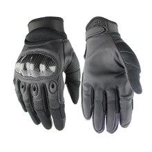 Taktische handschuhe Spezialeinheiten leder handschuhe Military Paintball Outdoor Vollfinger-handschuhe Motocycel Fahrrad Handschuhe guantes gym
