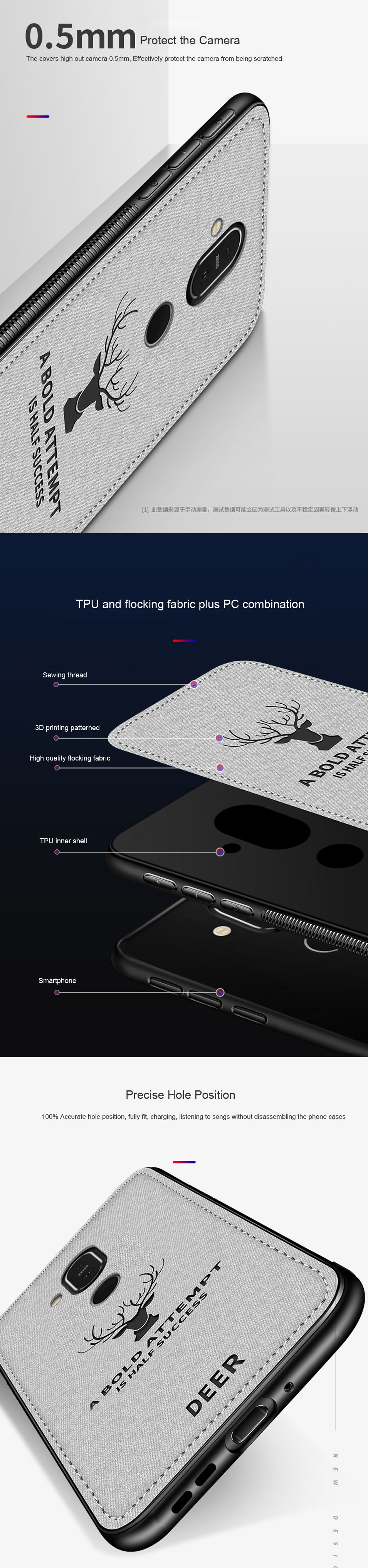 DEER Patterned Classic Retro Cloth Cases for Nokia 7 Plus x7 x6 x5 8 Sirocco Case Soft Back Cover For Nokia X7 X6 X5 Shell Coque (10)