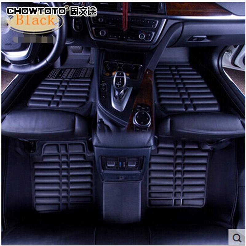 CHOWTOTO AA Custom Special Golvmattor för Mitsubishi Lancer EX vattentäta mattor för Lancer EX Foot Carmat