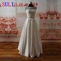 SL-022009 Elegante A Linha Querida Lace Corpete Frisada Belt Vestido de Noiva