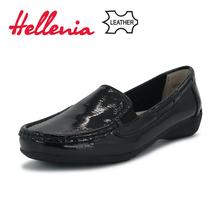 Hellenia Hot Sale Genuine Leather Women Shoes 2018 Fashion Casual soft Shoe Outdoor Shoes Female Driving Footwear Size 36 -41