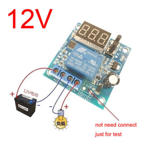 dc 12V Battery Low Voltage cut off On Switch Controller Excessive Protection Module with Digital LED display for car Motor dc 12V Battery Low Voltage cut off On Switch Controller Excessive Protection Module with Digital LED display for car Motor