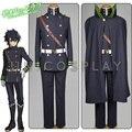 Seraph of the End Yuichiro Hyakuya Cosplay Costume Owari no Serafu Men's Suit Halloween Uniform Cloak+Jacket+shirt+pants+Belt