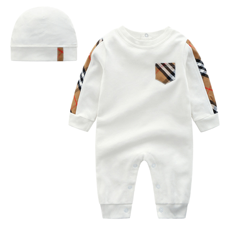 NEW 3 piece sets new born baby clothes baby girl romper Unisex Patchwork Cotton crawl baby rompers toddler girl winter clothes