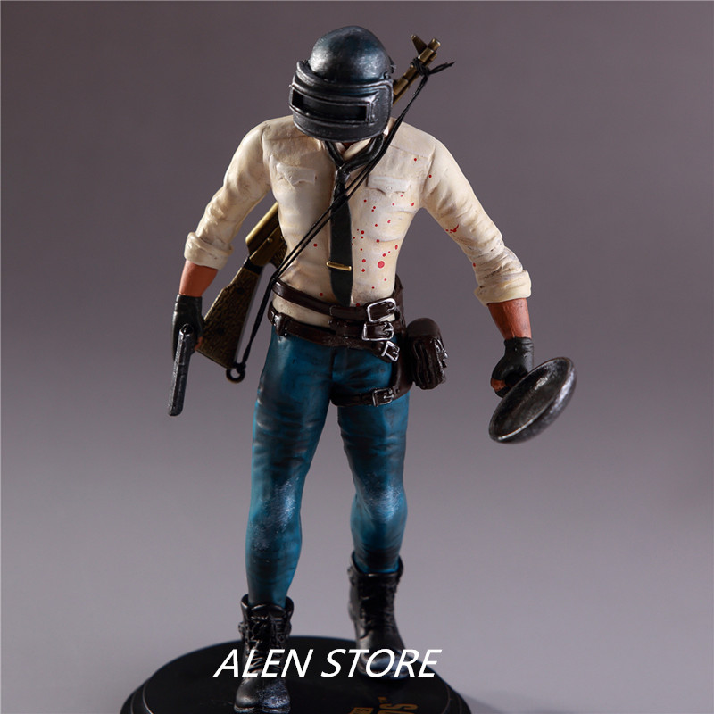 ALEN 1pcs New Arrival Hot Game Jedi Survival WINNER WINNER CHICKEN DINNER Action Figure Toy PVC Height About Is 17cm