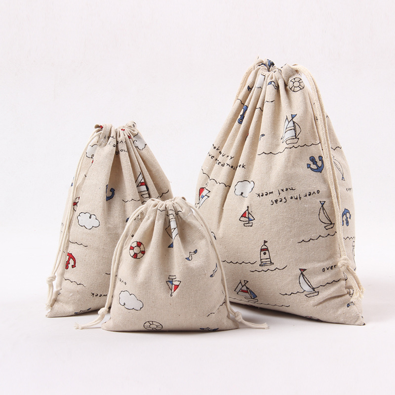 1pcs Blue Anchor Boat Drawstring Cotton Linen Storage Bag Gift Candy Tea Jewelry Organizer Makeup Cosmetic Coins keys Bags 49069-in Storage Bags from Home ... & 1pcs Blue Anchor Boat Drawstring Cotton Linen Storage Bag Gift Candy ...