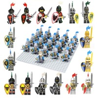 21pcs Lot Lion Knight A Compatible Building Block Figure Doll Castle Golden Knights Brick Accessory Sluban