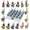 21pcs/lot Lion Knight A compatible Building Block figure doll Castle Golden Knights Brick accessory Sluban
