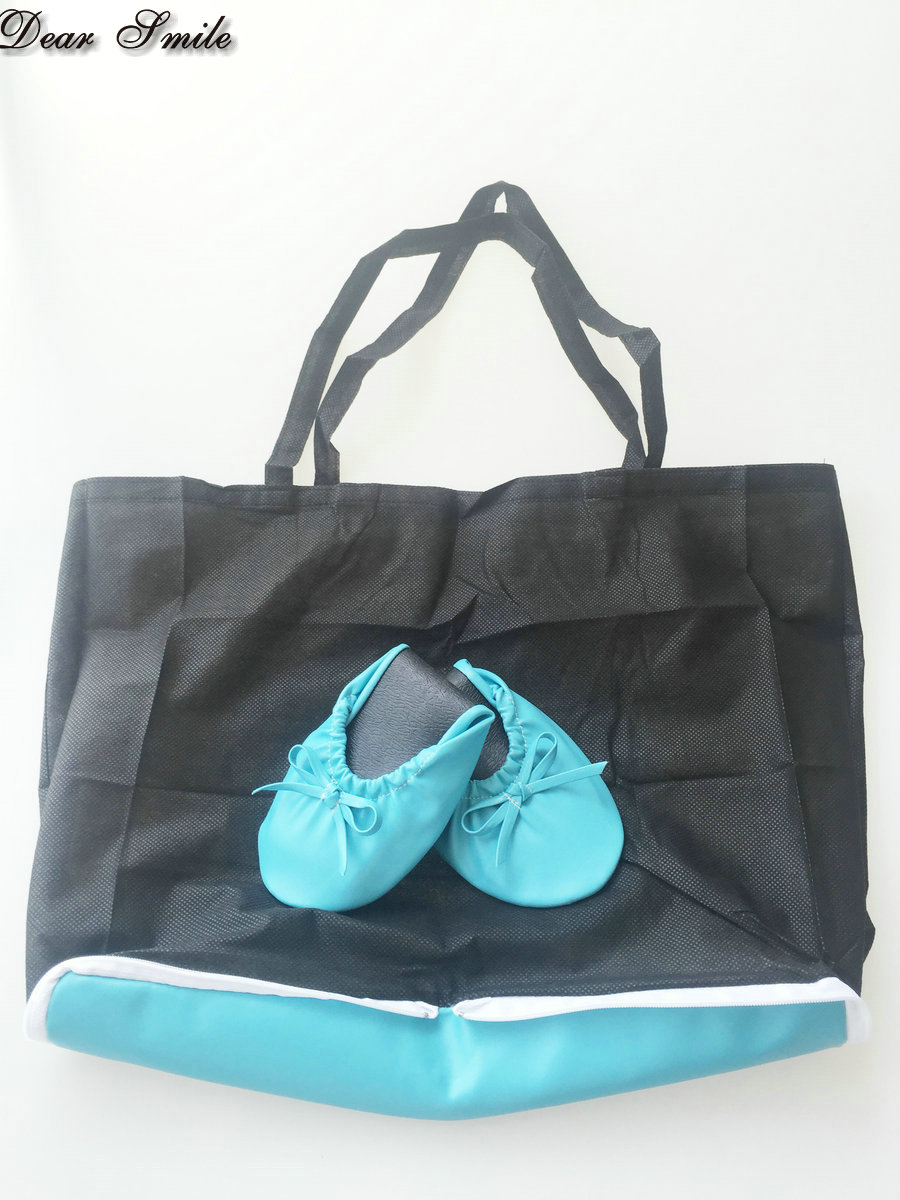 Por Lady Ballet Flats Women Fold Up Ballerina Shoes Logo On Bag In S From Aliexpress Alibaba Group