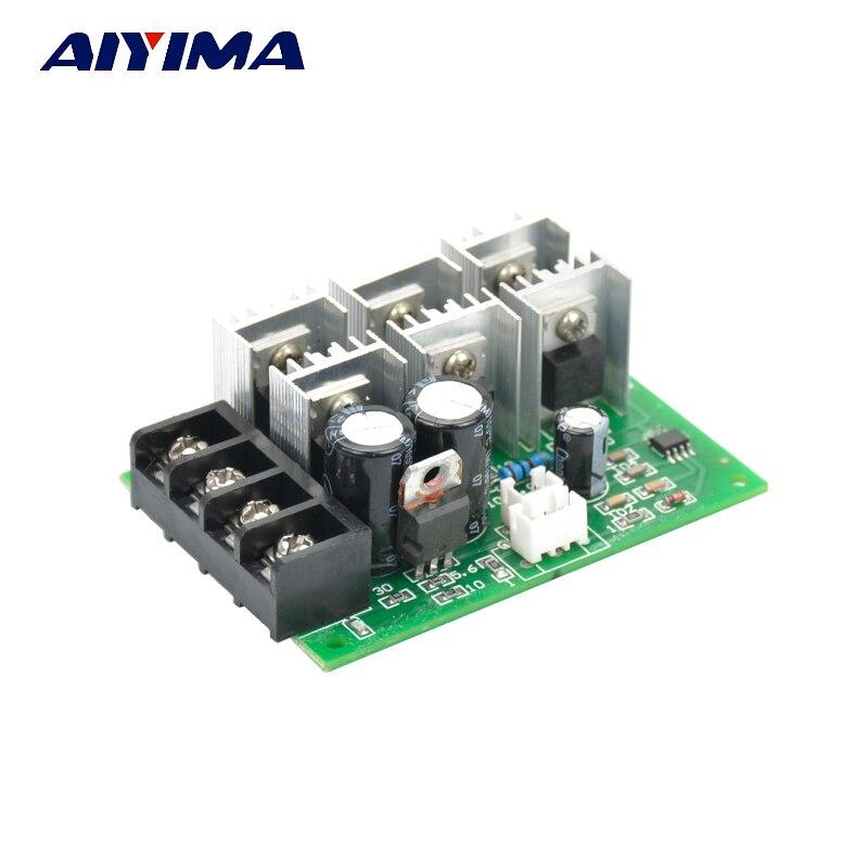 AIYIMA 40A PWM DC Brush Motor Speed Controller 12V 24V 36V 48V High Power Governor Regulator With Reverse Switch Control motor speed controller regulator dc12v 24v 36v 48v 40a 1000w hho pwm variable speed switch