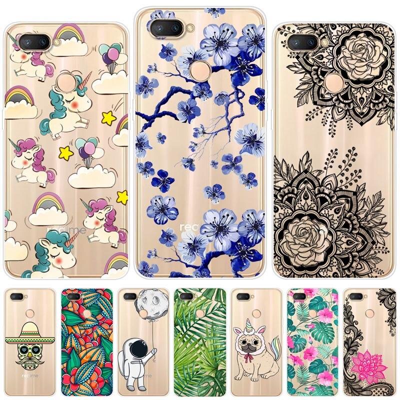For OPPO Realme U1 Case 6.3'' Cartoon Soft Silicone Realme U1 Cover Phone Back Case For OPPO Realme U1 U 1 Cases Fundas Coque