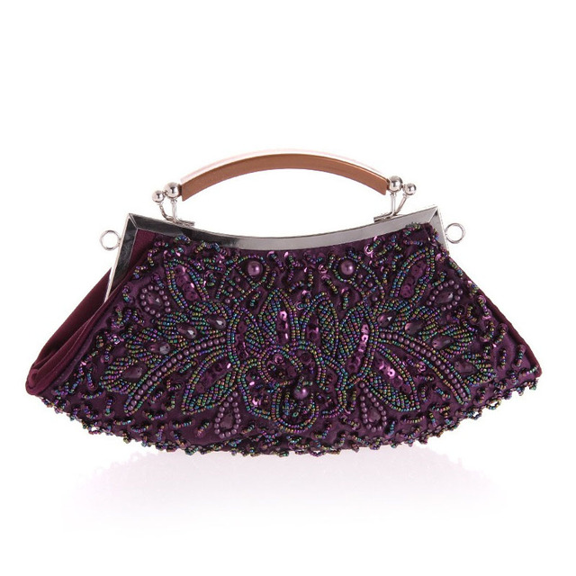 Brand Femininas Shiny Pearl Evening Bags Women Wedding Travel Day Clutches beading Party Clutch Bag Femininas bolsa mujer XA262B