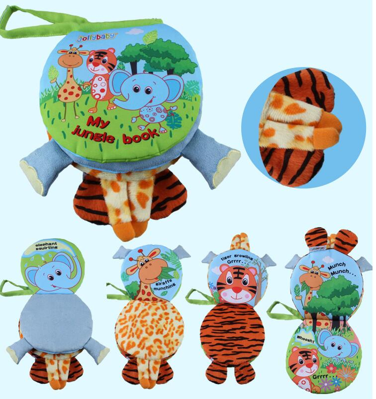 jollybaby animal style elephant sheep cloth book activity book baby toy cloth development learning amp