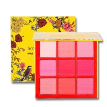 New 9 Colors Professional Matte Rouge Blush Face Makeup Palette Smoky Warming Color Matte Blushes Beauty Make Up Cosmetic