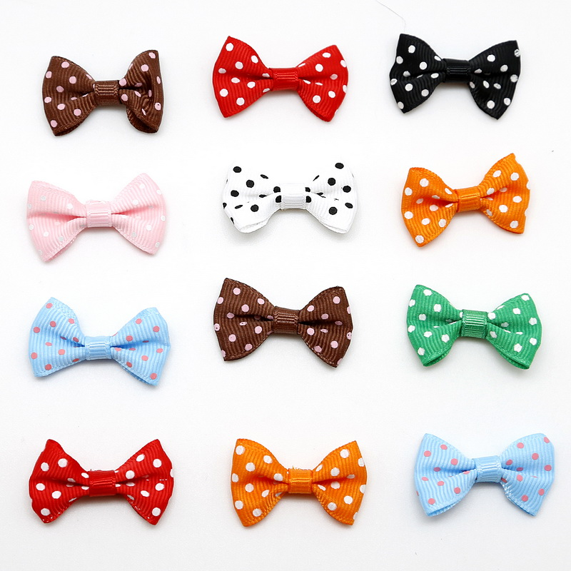 4x2.5cm 25pcs Satin Ribbon Bow Screw Handmade DIY Gift Package Bow Wedding Scrapbooking Embellishment Crafts Hair Accessor