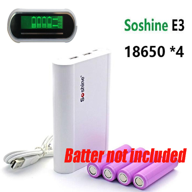 Soshine E3 Mobile font b Power b font font b Bank b font Battery Charger Box